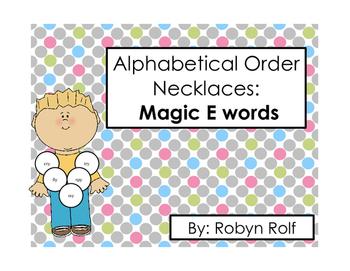 Alphabetical Order Necklaces: Magic E Words