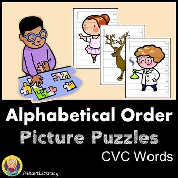 Alphabetical Order Picture Puzzles - CVC Words