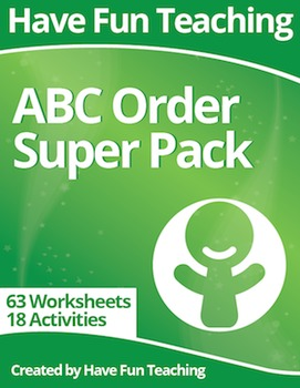 Alphabetical Order Super Pack (81 ABC Order Worksheets and