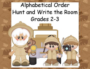 Alphabetical Order-Up to the Third Letter-Grades 2-3-Write