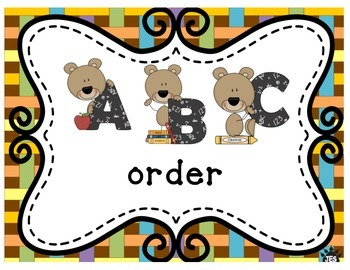 Alphabetical order (bear theme)