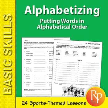 Alphabetizing: Putting Words in Alphabetical Order