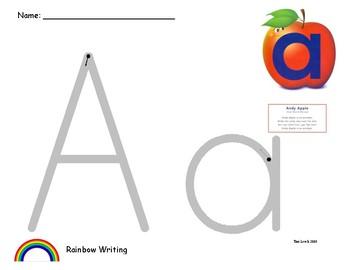 Alphafriends Rainbow Writing A - Z