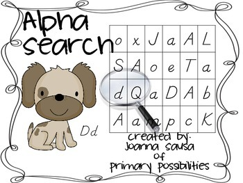 Alphasearch (alphabet / letter recognition in d'nealian)