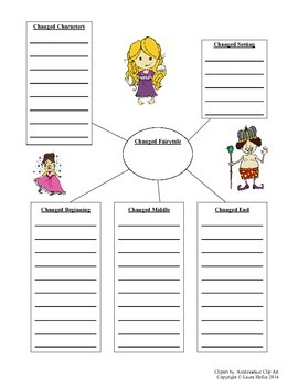 Altered Fairy Tale Writing Graphic Organizer