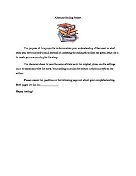 Alternate Ending Mini Reading Project