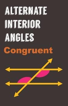 Alternate Interior Angles Poster