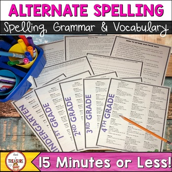 Alternate Spelling Activities