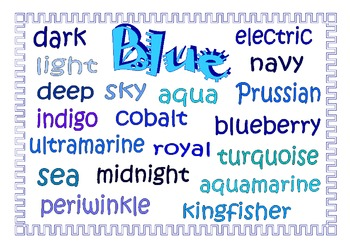 Alternative Color Words.