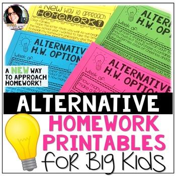 Alternative Homework Printables for Big Kids (A New Approa