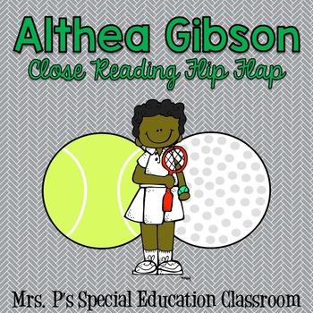 Althea Gibson Close Reading Flip Flap