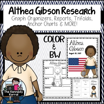 Althea Gibson Biography Research Bundle {Report, Trifold,