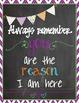 Always Remember... Chalkboard Signs