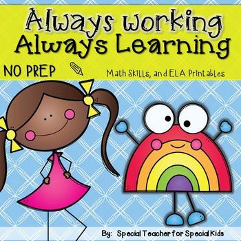 FREE Always Working.. Always Learning!- No Prep