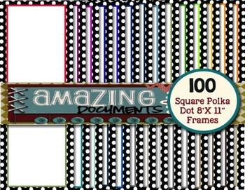 100 Square Polka Dot Border