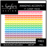 FREE Amazing Accents #1 {Graphics for Commercial Use}