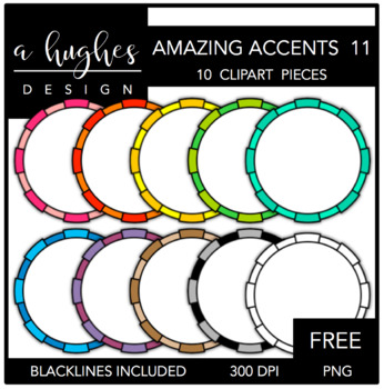 FREE Amazing Accents #11 {Graphics for Commercial Use}