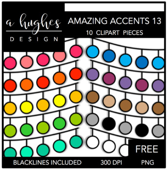 FREE Amazing Accents #13 {Graphics for Commercial Use}