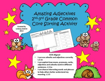 Amazing Adjectives: 2nd and 3rd Grade Common Core Sorting
