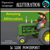 Alliteration PowerPoint Lesson {Figurative Language}