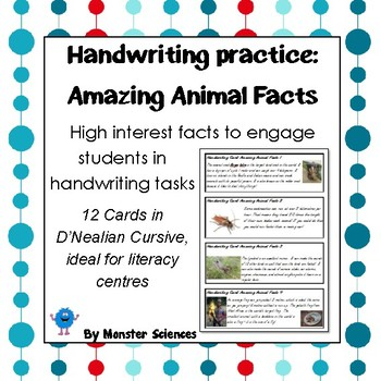 Amazing Animal Facts - Fun handwriting practice
