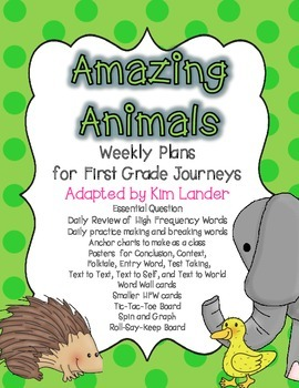 Amazing Animals Journeys First Grade Lesson Plans and Supp