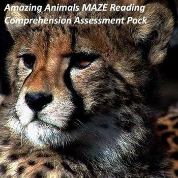 Amazing Animals Maze/Daze Reading Comprehension Assessment
