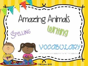 Amazing Animals {spelling, writing, and phonics practice}