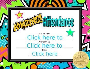Amazing Attendance Certificate