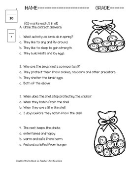 Amazing Bird Nests - Reading Comprehension Quiz ( Reading