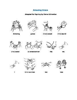 Amazing Grace in American Sign Language (ASL)