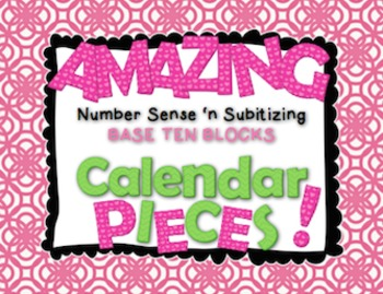 Amazing Number Sense and Subitizing Calendar Pieces--Base