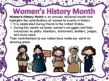Amazing Women(Women's History Month)