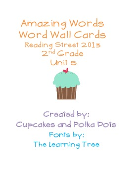Amazing Words- Word Wall Cards Reading Street Unit 5