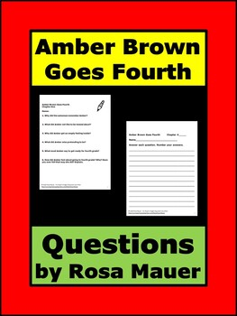 Amber Brown Goes Fourth Literacy Unit