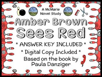 Amber Brown Sees Red (Paula Danziger) Novel Study / Readin