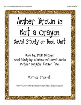 Amber Brown in Not a Crayon- Novel Study, Ch. Q.s, Quiz, a