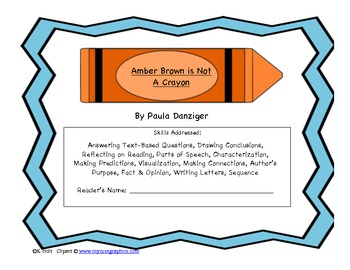 Amber Brown is Not a Crayon Novel Study