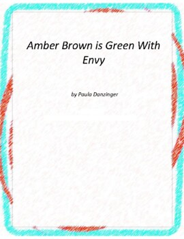 Amber Brown isGreen With Envy Novel Unit with Literary and