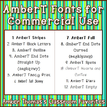 AmberT Fonts {18 Fonts for Commercial Use}