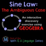 Ambiguous Case of the Sine Law - interactive discovery exe