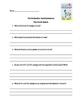 Amelia Bedelia Comprehension Questions