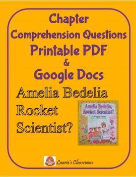 Amelia Bedelia Rocket Scientist Comprehension Questions an