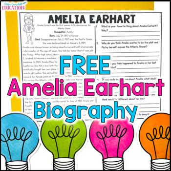 Amelia Earhart Article FREEBIE!