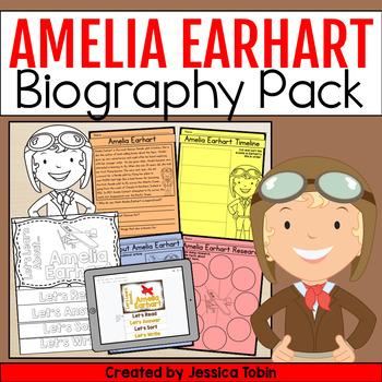 Amelia Earhart Biography Pack