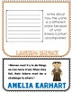 Amelia Earhart Biography Research Project, Flip Book, Wome