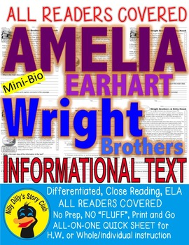 The Wright Brothers & Amelia Earhart & Kitty Hawk Close Re