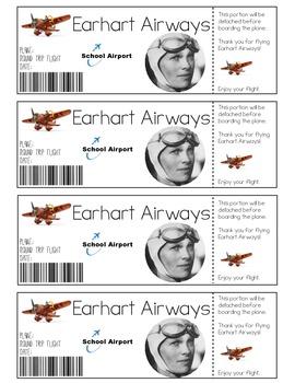 Amelia Earhart Printable Tickets