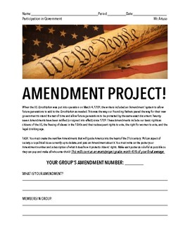 Amendment Project!