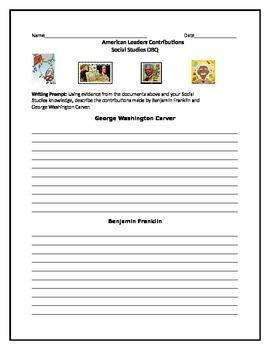American Leaders Writing Activity-George Washington Carver